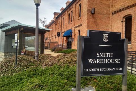 Exterior of Smith Warehouse