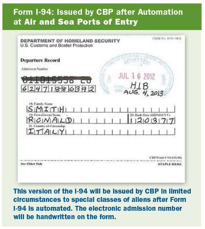 Form I 94 Examples Visa Services Duke